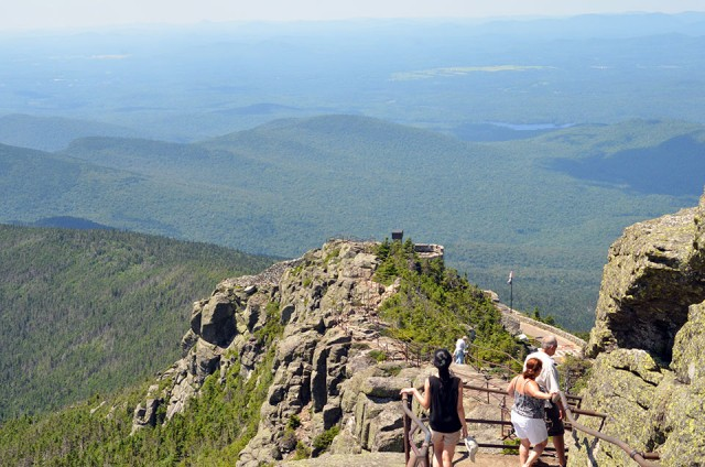 Stairs on top of Whiteface Mountain Memorial Highway